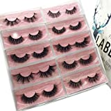 Labeh Mink Eyelashes 3D Mink Fur False Eyelashes Reusable Handmade Natural Lashes Fake Eyelashes Easy to Apply (10 different styles/package) (Color: top mink lashes, Tamaño: #E80)