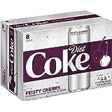 Diet Coke Sleek Can, Feisty Cherry, 12 Fluid Ounce (Pack of 8) (Tamaño: 12 Fluid Ounce (Pack of 8))