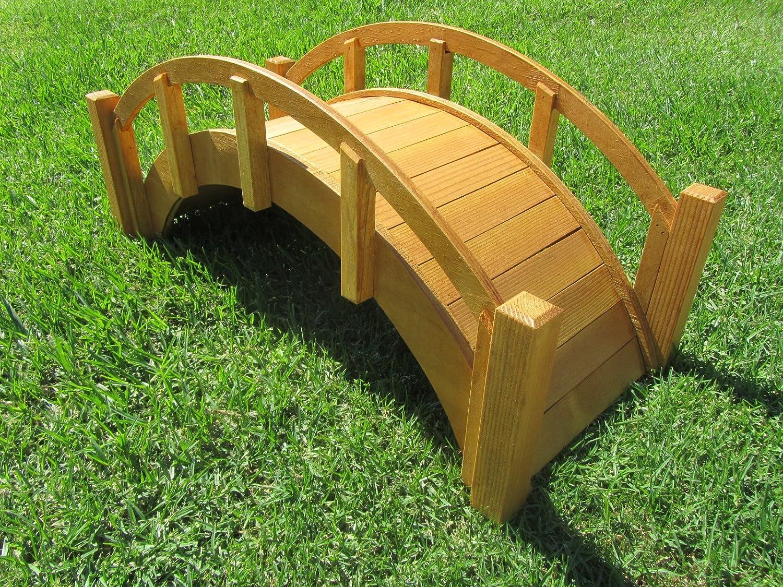 Small Decorative Garden Bridges: Wooden Garden Bridge Miniature Japanese Waterproofed