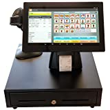 POS Point of Sale Retail System with Large 14 inch Touch Screen Tablet, Bar Code Scanner, Online Reporting and Inventory Management. Easier to Use Than a Push Button Cash Register. (Tamaño: 14 Inch w/Bar Code Scanner)