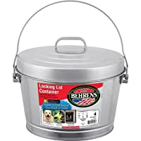 Behrens Manufacturing 6104 Galvanized Steel Locking Lid Can, 4 gal