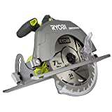 Ryobi P508 One+ 18V Lithium Ion Cordless Brushless 7 1/4 3,800 RPM Circular Saw w/ Included Blade (Battery Not Included, Power Tool Only) (Renewed) (Color: silver, Tamaño: Power Tool Only)