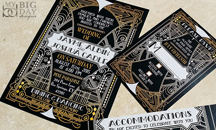 The Glittering Gatsby Wedding Invitation Sample Set