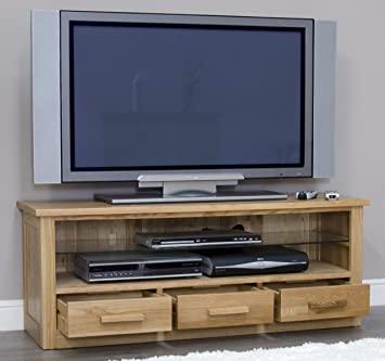 Arden Solid Oak Furniture Plasma Television Cabinet