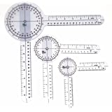 Set of 3 Piece Spinal Goniometer Protractor Ruler 360 Degree 12 inch 8 inch 6 inch (A2ZSCILAB BRAND)