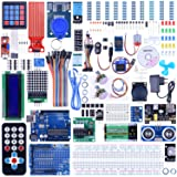 Quimat UNO R3 Project Complete Ultimate Starter Kit for Arduino with Tutorial,UNO R3 Development Board,Expansion Board,LCD1602, Servo(SG90),HC-SR501,Ultrasonic Sensor Module
