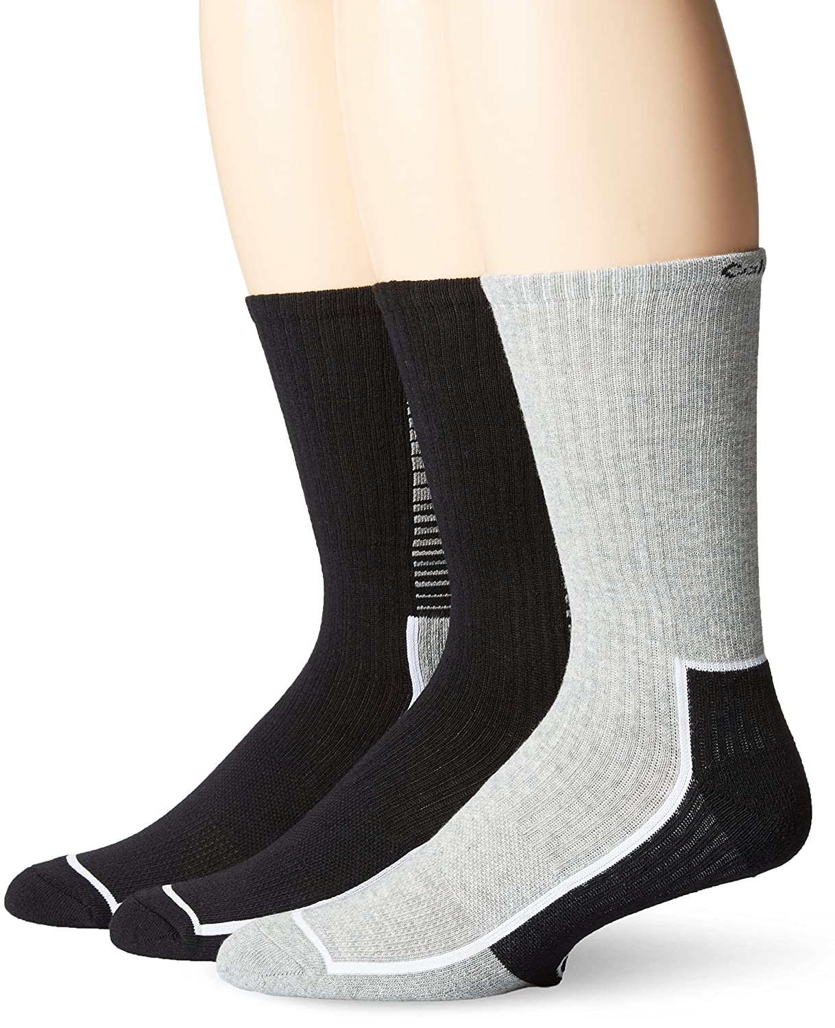 Calvin Klein Men's 3 Pack Coolpass Crew Sock