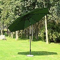 Outsunny 9-Foot Solar Multi-Color LED Market Patio Umbrella (Deep Green)