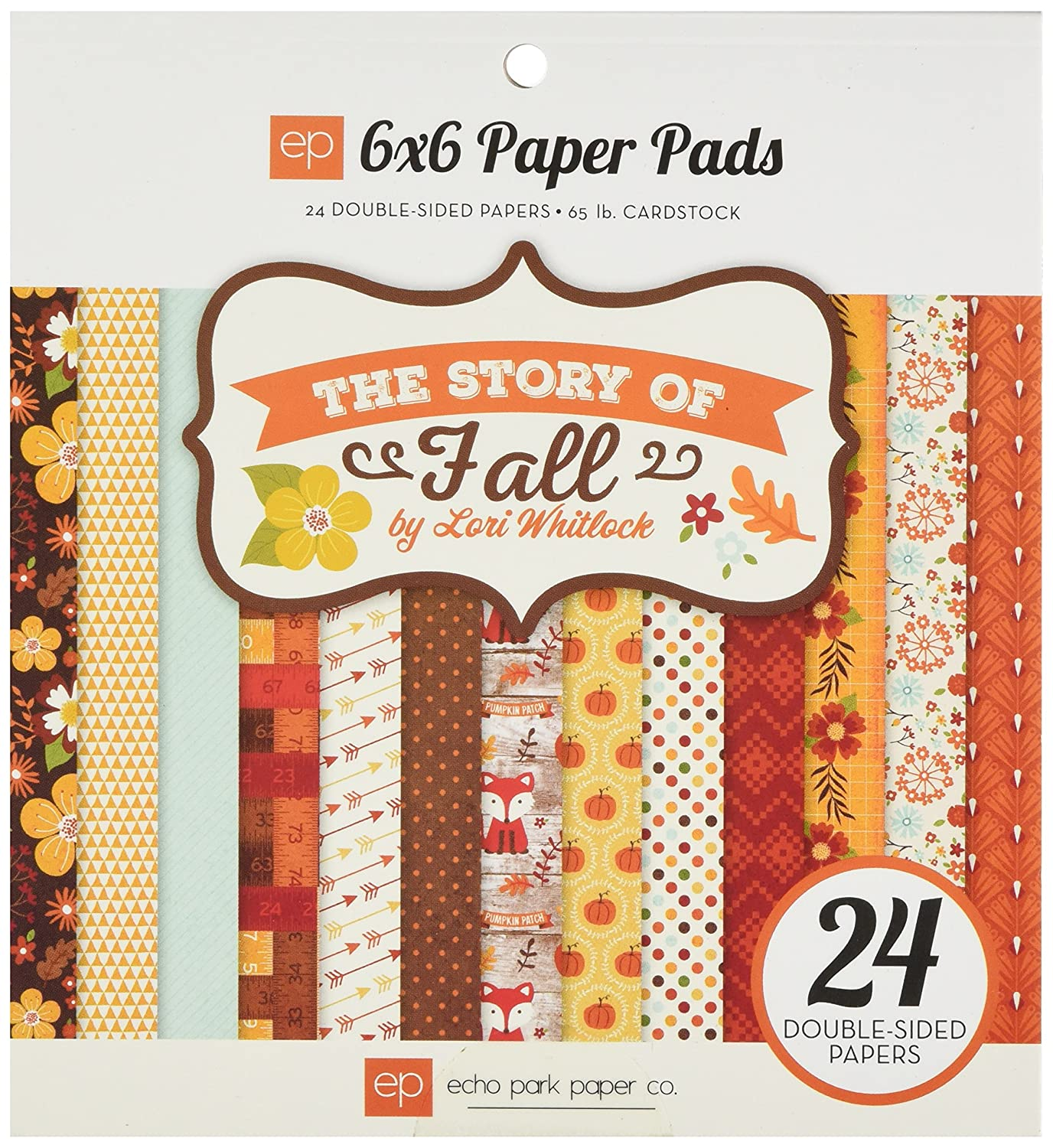 Scrapbook paper and stickers - Echo Park Paper The Story Of Fall This Paper Pad Contains Twenty Four 6x6 Inch Sheets Of Double Sided Scrapbook Paper