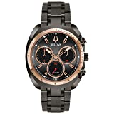Bulova Men's Curv Collection' Quartz Stainless Steel Casual Watch, Color:Grey (Model: 98A158) (Color: grey)