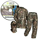 HECS Suit Deer Hunting Clothing with Human Energy Concealment Technology - Camo 3 Piece Shirt, Pants, Headcover - Lightweight Breathable in Mossy Oak Country & Realtree Xtra   Mossy Oak, 3X-Large