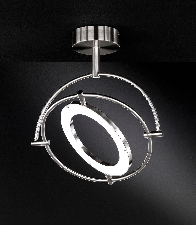 Action Deckenleuchte, 1-flammig, Serie Monza, 1 x LED, 24 W, Höhe 49 cm, Durchmesser 42.5 cm, Kelvin 3000, Lumen 1800, nickel matt 936701640000