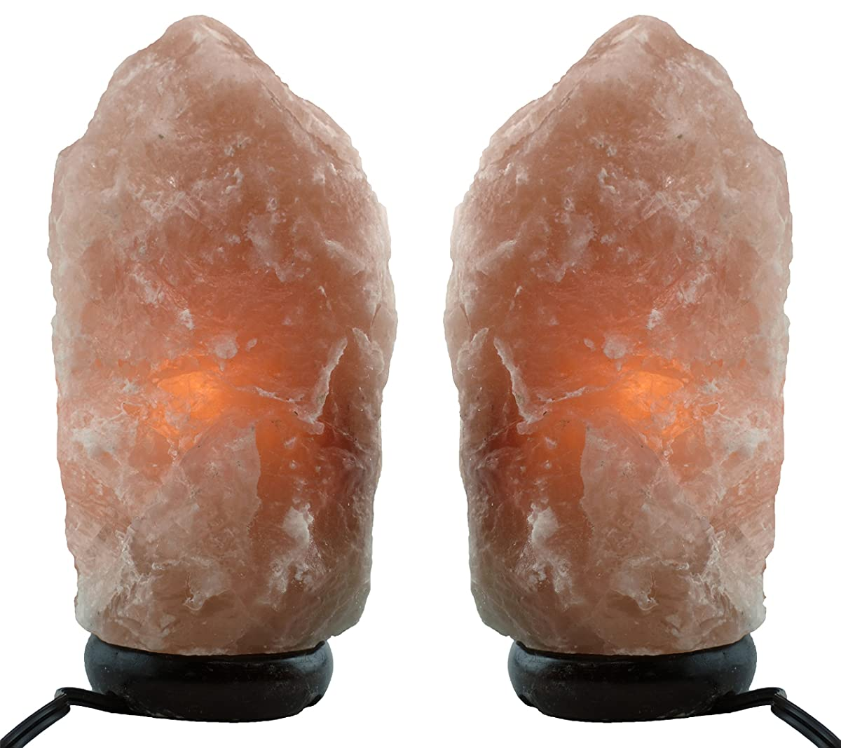 Himalayan Natural Salt Lamp- TWO Pack- Multiple Sizes (5-7 inch)