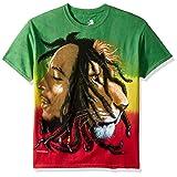 Bob Marley - Profiles Tie-Dye T-Shirt - 2X-Large (Color: Multi, Tamaño: XX-Large)