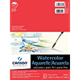 Canson Foundation Series Watercolor Paper Pad for Wet or Dry Media, Fold Over, 90 Pound, 9 x 12 Inch, 15 Sheets (Color: 0, Tamaño: 9