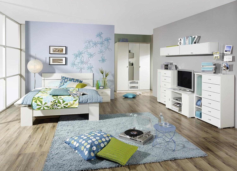 Jugendzimmer mit Bett 140 x 200 cm alpinweiss jetzt kaufen