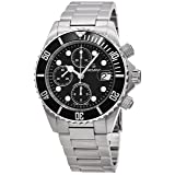 Grovana Diver Men's Black Face 42MM Chronograph Date Stainless Steel Mens Dive Watch 1571.6137