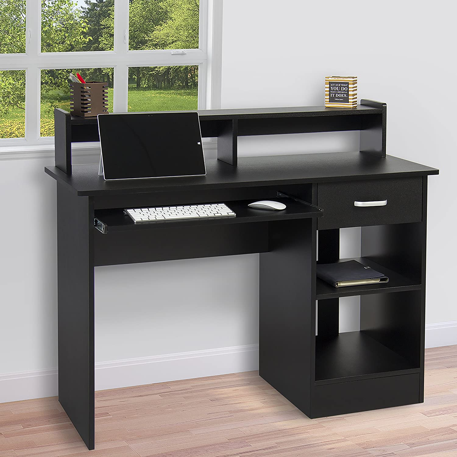 Best Choice Products Computer Desk Home Laptop Table College Home Office Furniture Work Station Blk
