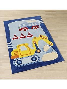 benuta Teppiche Kinderzimmer Kinderteppich Baustelle ...