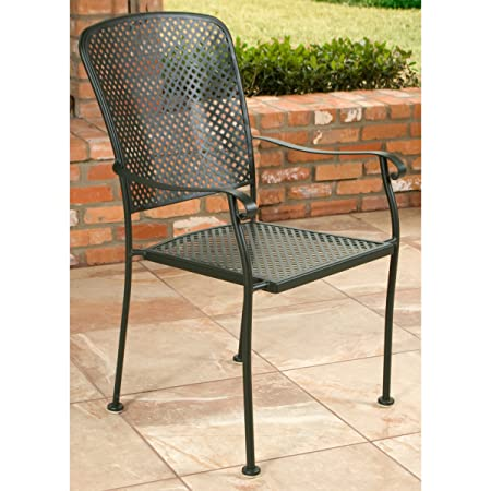 Woodard Fullerton Wrought Iron Frame Dining Chair