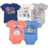 The Beatles Lyrics Infant Baby Boys' 5 Pack Onesies Blue, Red, White, Navy, Grey (6-9 Months) (Color: Multi, Tamaño: 6-9 Months)