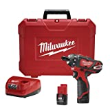 Milwaukee 2406-22 M12 1/4 2Spd Driver Kit (Color: Red)