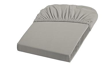 fleuresse 1115 9021 drap housse jersey 100 100 coton gris 120 x x 200 cm cuisine. Black Bedroom Furniture Sets. Home Design Ideas