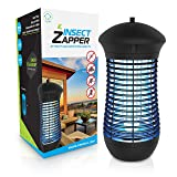 Livin' Well Electric Bug Zapper - 4000V Insect Zapper Mosquito Trap with 18W UVA Bug Zapper Outdoor Indoor Light and Steel Grid Mosquito Killer Trap