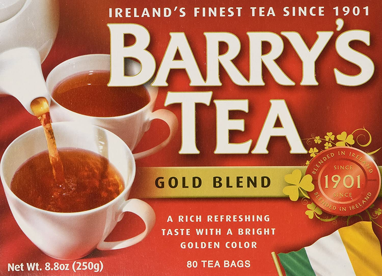 Barrys Irish Breakfast Tea 80's ( Pack of 2)