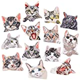 13pcs Delicate Cat Iron On Patches Embroidered Motif Applique Assorted Size Decoration Sew On Patches Custom Patches for DIY Jeans,Jacket,Kid's Clothing,Bag,Caps,Arts Craft Sew Making (Cat 13pcs) (Color: Cat 13pcs)