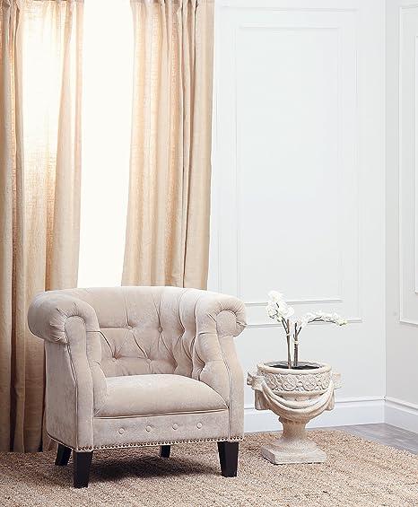 Carla Fabric Nailhead Trim Armchair