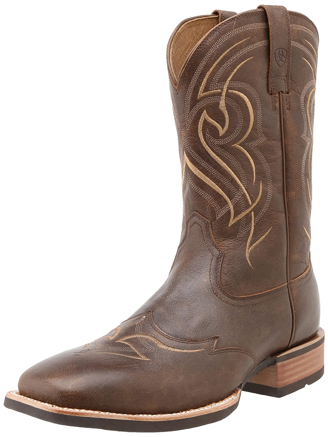 Ariat Men's Quickdraw Wingtip Cowboy Boot Square Toe double barrel toddler boys s andy cowboy boot square toe