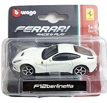 """Bburago 3"""" 1/64 Ferrari F12 Berlinetta White"""