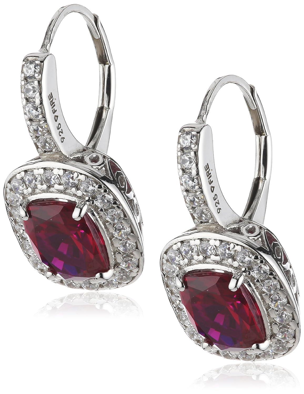 Diamonfire Damen-Ohrhänger 925 Sterling Silber Zirkonia Royal Colours Linie rot 62/1430/1/088 jetzt bestellen