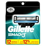 Gillette Mach3 Men's Razor Blade Refills, 12 Count (Packaging May Vary), Mens Razors / Blades (Color: Multicolor, Tamaño: 12 Count)
