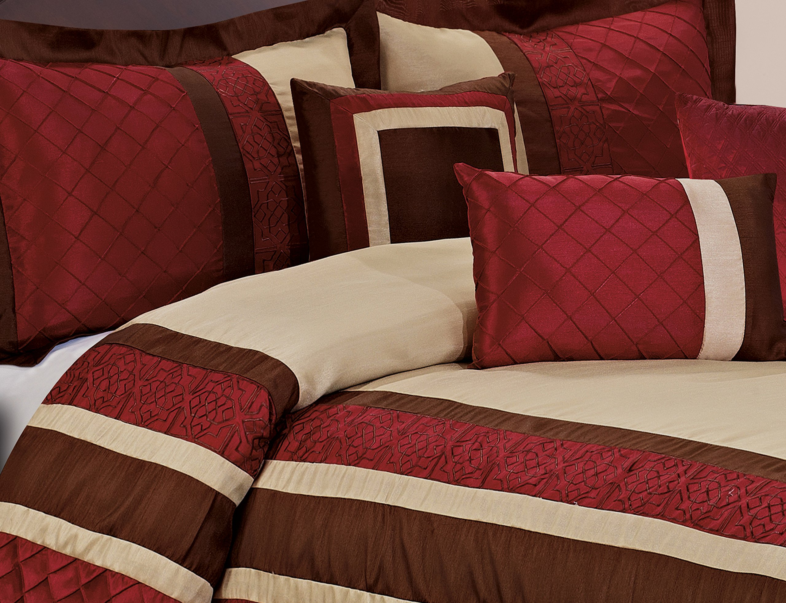 Red King Size Bed Skirt