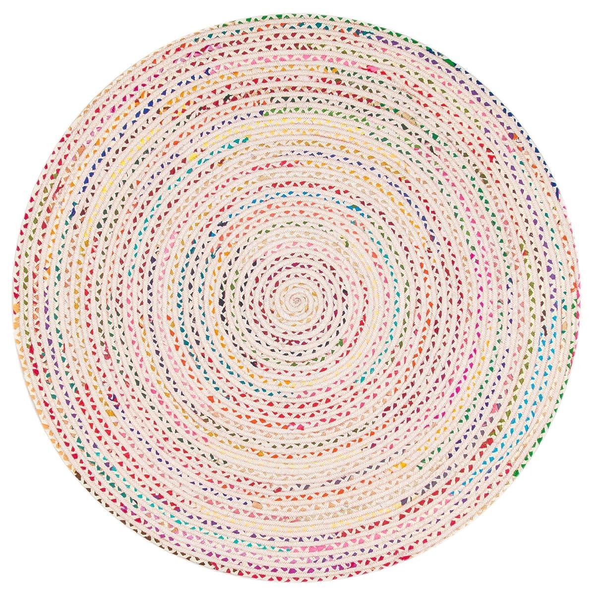 nuLOOM Hand Braided Tammara Rug, 5 x 8, Ivory