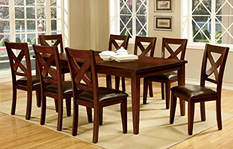 Furniture of America Gillies 9-Piece Transitional Dining Set