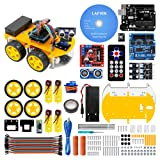 LAFVIN Smart Robot Car Kit Include UNO R3,Ultrasonic Sensor, Bluetooth Module for Arduino with Tutorial
