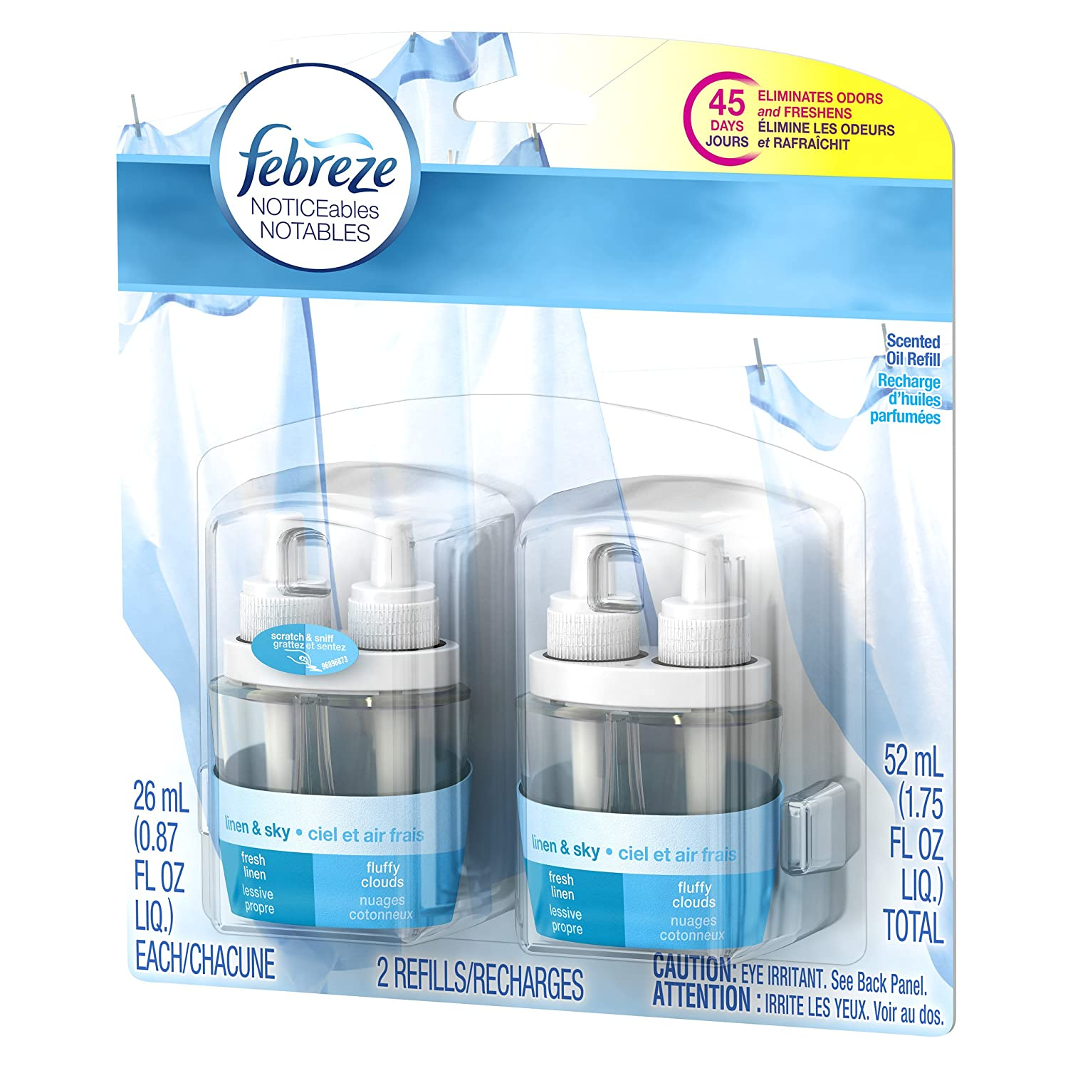 Febreze NOTICEables Air Freshener Refill Linen and Sky 1 ...