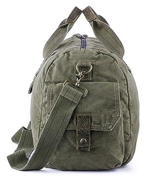 263e6024e405 Gootium Canvas Duffel Bag - Vintage Travel Tote Weekend Holdall Sports Gym  Bag