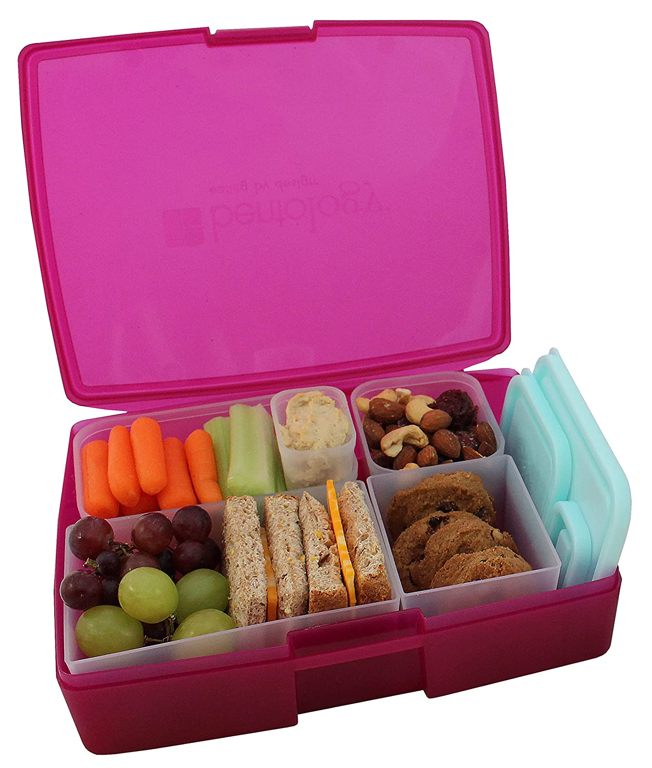 bento lunch box food saver storage removable 5 containers. Black Bedroom Furniture Sets. Home Design Ideas