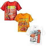 Disney Little Boys' Toddler Cars 3 Pack T-Shirt, Multi, 4T (Color: Multicolor, Tamaño: 4T)