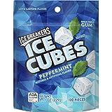 ICE BREAKERS Ice Cubes Sugar Free Gum, Peppermint, 100 Piece (Tamaño: 100 Piece)