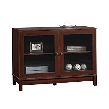 Sauder Kendall Square Display Cabinet, Select Cherry