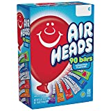 Airheads Bars, Chewy Fruit Candy, Variety Pack, 90 Count (Packaging May Vary) (Color: 90 Pk, Tamaño: 49.5 Ounce)