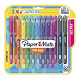 Paper Mate InkJoy Gel Pens, Medium Point (0.7mm) Capped, 20 Count, Assorted Colors (2023018) (Color: 14-Assorted, Tamaño: 20-Count)