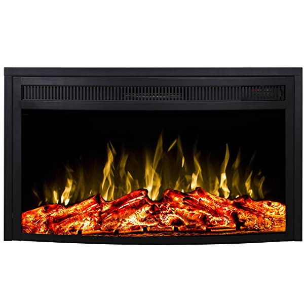 Regal Flame 26 Curved Ventless Heater Electric Fireplace Insert