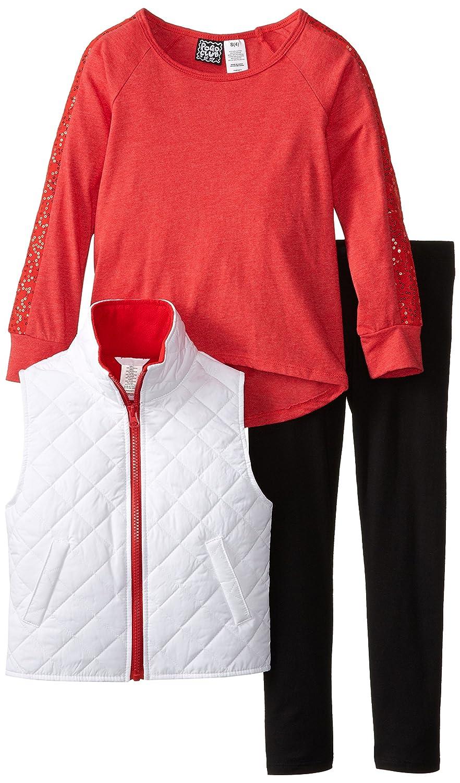 Pogo Club Little Girls' 3 Piece Quilted Vest Set pogo club little girls 3 piece quilted vest set