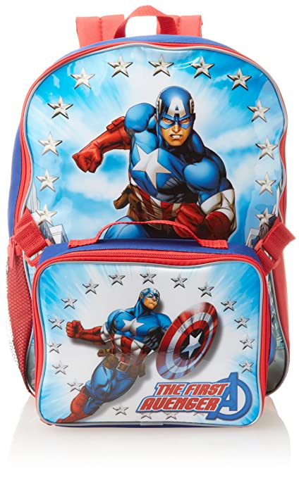Marvel Little Boys' Avengers Captain America Backpack